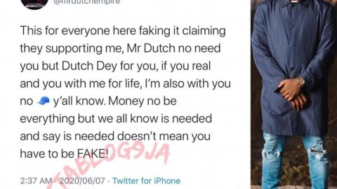 MrDutch speaks out on people who show fake love for money and attention!