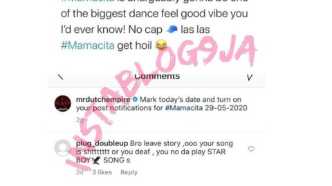 MrDutch blast a hater comparing his hit single to Wizkid songs