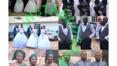 Two sets of triplets marry each other over the weekend in Ngwo, Enugu State