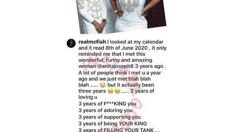 Actress Anita Joseph's husband celebrates 3 years of fc*king her and filling her tank to the brim