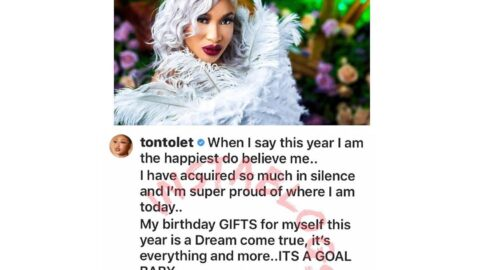 Actress Tonto Dikeh highlights her intimidating array of blessings as she clocks 35. [Swipe]