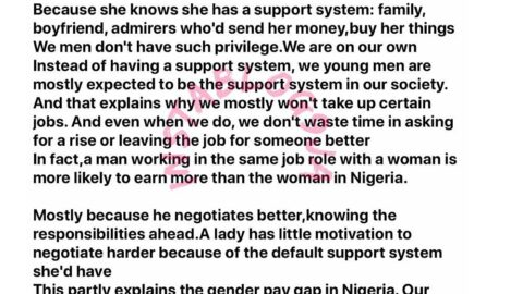 Why ladies can take up a N50k per month job in Nigeria and still live comfortably — Writer  Odanz. [Swipe]