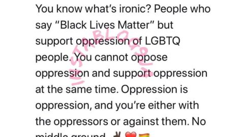 You can't oppose the oppression of black people and support the oppression of LGBTQ people at the same time — Nigerian LGBTQ Activist, Pamela Adie