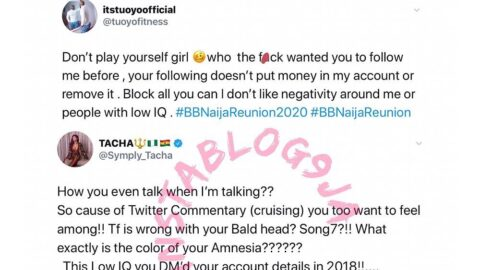 Tacha drags Thelma for condemning her and Tuoyo for saying she has an extremely low IQ. [Swipe]