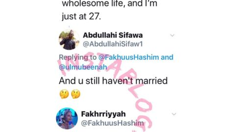 Nigerian Poet, Fakhrriyah, presses the neck of a marriage-obsessed follower