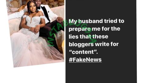 Adewale Adeleke's wife reacts to rumor of crisis rocking their 4-month-old marriage and Davido-Chioma's relationship. [Swipe]
