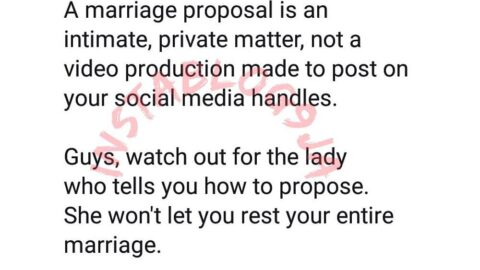 Public marriage proposals often end in private tears — Pastor Laurie Idahosa