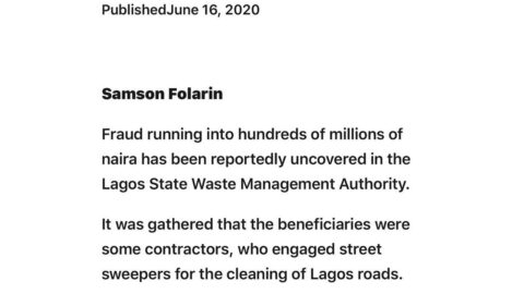 Fraud reportedly uncovered In LAWMA, after Audit Ordered By Governor [SWIPE TO READ ALL]