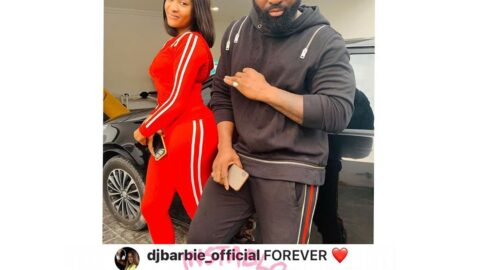 (Forever ❤️) Celebrity Disk Jockey, #DJBarbie finally lays rumour mongers to rest. . . Publicly confirms love romance with Alterplate Boss #Harrysongs.