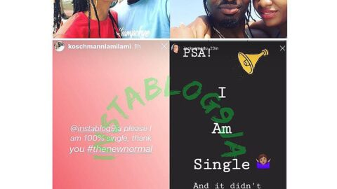 BBN's Jackye and her erstwhile boyfriend react to Instablog9ja post, reveal they've dumped each other. [Swipe]