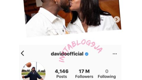 Chioma not spared as Davido sanitizes his IG page