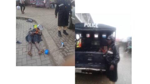 Lady rescued after jumping off the Ojota pedestrian bridge