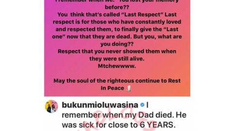 """""""You're practically, spiritually and psychologically mad,"""" actress Oluwasina slams those who refuse to celebrate people until they're dead. [Swipe]"""