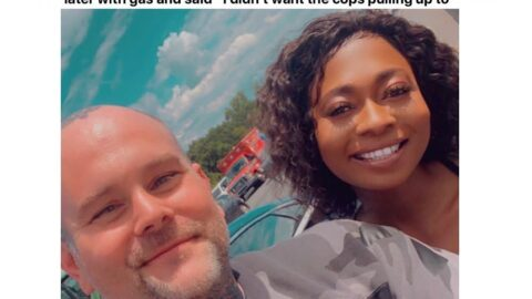 Lady recounts how a white man stopped on the highway to help and protect her against the cops [Swipe]