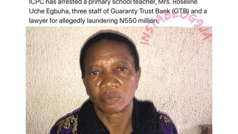 Primary school teacher arrested with N550million allegedly belonging to her 24-yr-old son. [Swipe]