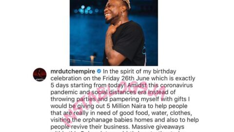 My acts of generosity seek no expectation says #mrdutch as he plans to celebrate his birthday in a special way [SWIPE]
