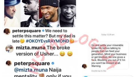 For calling him broke, Peter Psquare slides into a troll's DM to finish him off. [Swipe]