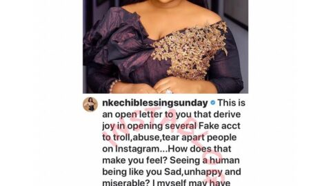 CoronaConfessions: I once created fake pages to troll people on Instagram by Actress, Nkechi Sunday [SWIPE]