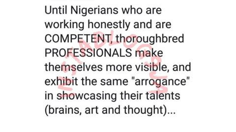 Until honest Nigerians make themselves more visible, the only role models your children will have is Loud Bingo — Nigerian Journalist