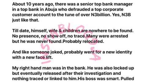 How a banker stole a customer's N3bn and disappeared without a trace till date — Financial consultant Oni