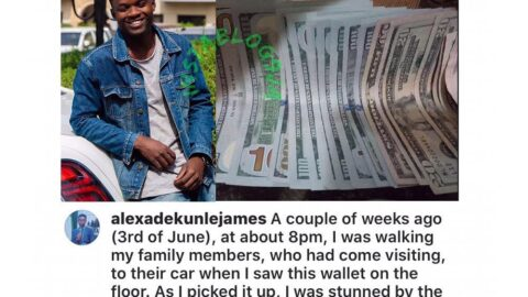 Why I returned a dollar-filled wallet misplaced by a House of Reps member — Writer Adekunle. [Swipe]