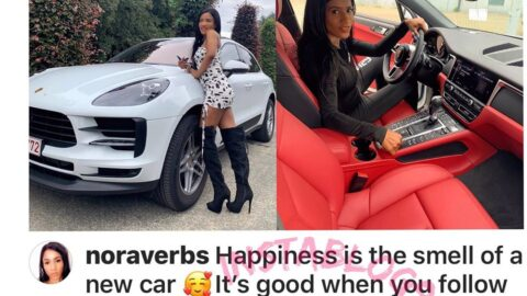 Nollywoood Actress/Producer & Beautician, #NoraVerbs  pampers herself with a new birthday gift.