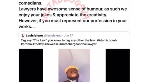 NBA calls out comedian Lasisi Elenu over his 'tasteless' lawyer jokes. Threatens to take strict action against him. [Swipe]