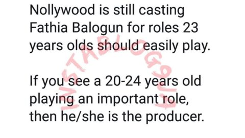 Writer Olajumoke upbraids Nollywood for casting Fathia Balogun for roles 23-year-olds can easily play
