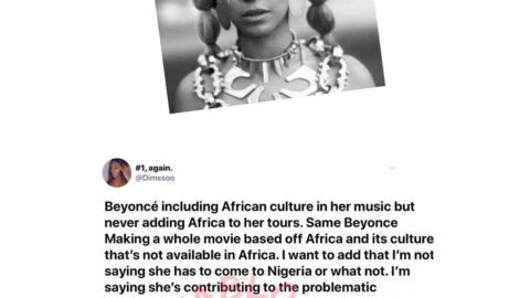 Nigerian model drags Beyoncé for allegedly taking advantage of Nigeria and Africa at large. [Swipe]