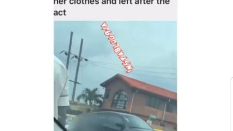 Lady strips naked in the middle a road in Maryland, Lagos, to curse someone who offended her