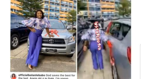 Ex Ultimate Love Guest, Bola, receives a car as birthday gift from her fans