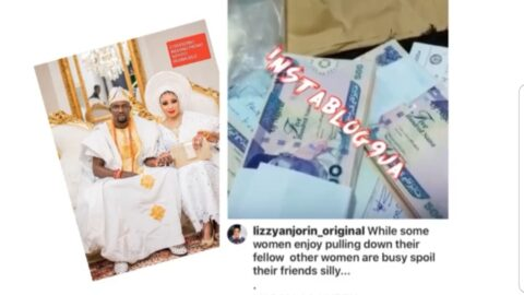 Actress Lizzy Anjorin flaunts the multimillion naira she received as wedding gift