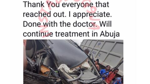 Businessman Mobido shares picture of the ghastly car crash he miraculously survived