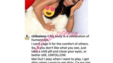 """Controversial 40 million naira hair lady, Chika Lann shut haters up with another nude photo titled """"Not from your Planet"""""""