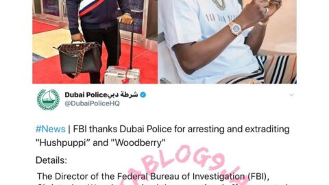 Just In: Hushpuppi and Woodberry finally extradited to the U.S. FBI thanks Dubai Police. [Swipe]