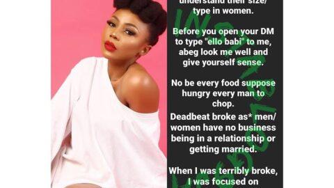 Deadbeat broke men/women have no business being in a relationship or marriage — Ifu Ennada [Swipe]