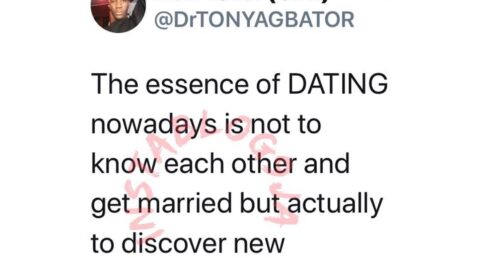 The essence of dating, nowadays, is to discovery new entries — Optometrist Agbator