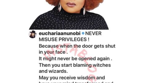 Never misuse privileges, then start blaming witches and wizards — Actress Eucharia Anunobi