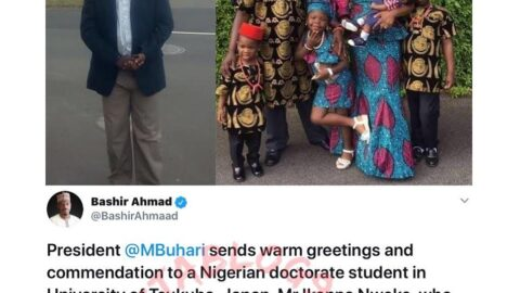 Buhari commends Nigerian man who returned a wallet loaded with cash in Japan . .