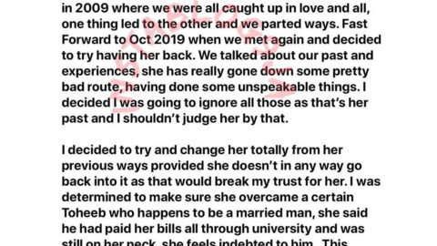 Broke Nigerian man cries out after his girlfriend went back to her ex because of money. [Swipe]