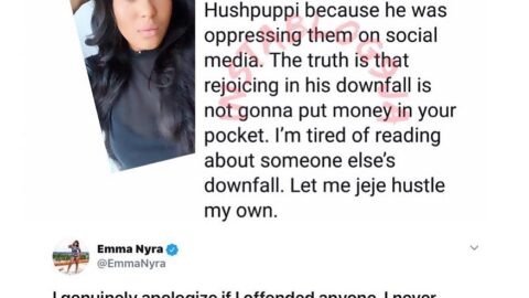 """""""I would never defend his actions,"""" singer Emma Nyra apologizes for her Hushpuppi comment"""