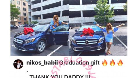 Davido's cousin, Adenike, receives a Benz as graduation gift from her dad
