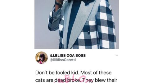 Don't be fooled. Most of these entertainers are dead broke — Rapper illbliss