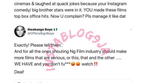 Filmmakers Boyo and Egbe drag those always complaining about the standard of Nollywood movies