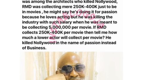 RMD is one of the killers of Nollywood — Actor Czer