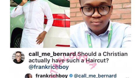 Gospel musician Frank Edwards carpets a follower who criticized his haircut