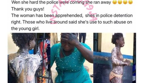 Lady arrested for scalding her niece with hot water in Lokoja, Kogi State