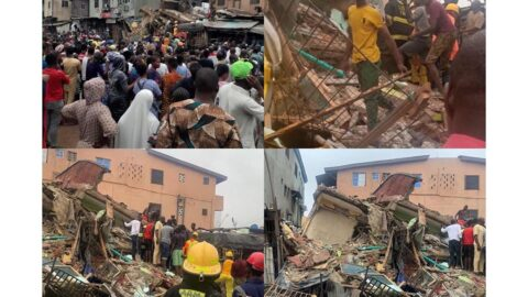 Many feared dead as three storey building collapses in Lagos