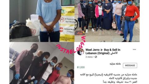 Nigerian lady put on sale and the one accused of murder, return from Lebanon