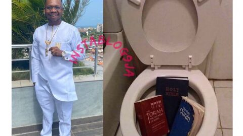 Ghanian comedian, King Nana, gets rid of all his Holy books